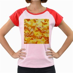 Camouflage Yellow Women s Cap Sleeve T Shirt