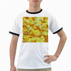 Camouflage Yellow Ringer T Shirts