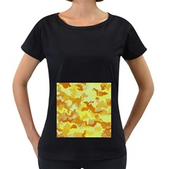 Camouflage Yellow Women s Loose Fit T Shirt (black)