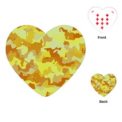 Camouflage Yellow Playing Cards (Heart)