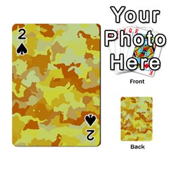 Camouflage Yellow Playing Cards 54 Designs