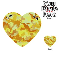 Camouflage Yellow Playing Cards 54 (Heart)