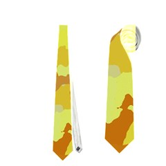 Camouflage Yellow Neckties (two Side)