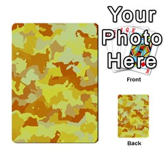 Camouflage Yellow Multi Purpose Cards (rectangle)