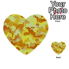 Camouflage Yellow Multi Purpose Cards (heart)