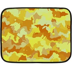 Camouflage Yellow Fleece Blanket (Mini)