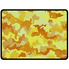 Camouflage Yellow Fleece Blanket (Large)