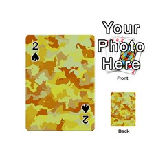 Camouflage Yellow Playing Cards 54 (Mini)