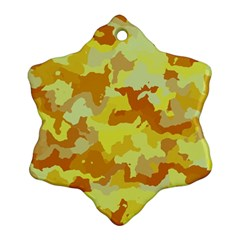 Camouflage Yellow Ornament (Snowflake)