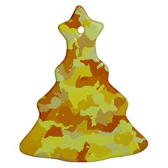Camouflage Yellow Christmas Tree Ornament (2 Sides)