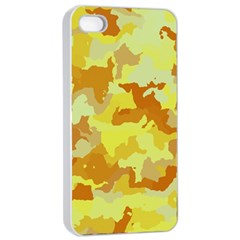 Camouflage Yellow Apple Iphone 4/4s Seamless Case (white)