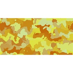 Camouflage Yellow You Are Invited 3d Greeting Card (8x4)