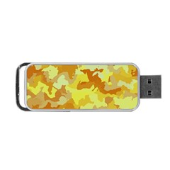 Camouflage Yellow Portable Usb Flash (one Side)