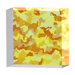 Camouflage Yellow 5  x 5  Acrylic Photo Blocks