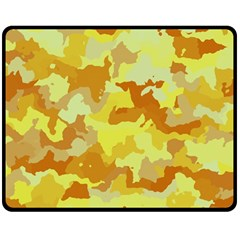 Camouflage Yellow Double Sided Fleece Blanket (Medium)