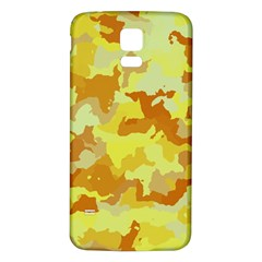 Camouflage Yellow Samsung Galaxy S5 Back Case (white)