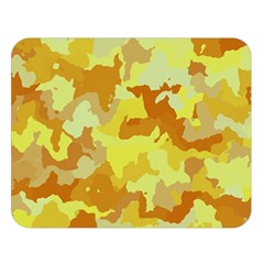 Camouflage Yellow Double Sided Flano Blanket (large)