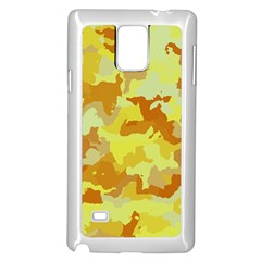 Camouflage Yellow Samsung Galaxy Note 4 Case (White)