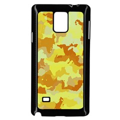 Camouflage Yellow Samsung Galaxy Note 4 Case (black)
