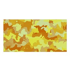 Camouflage Yellow Satin Shawl
