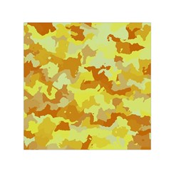 Camouflage Yellow Small Satin Scarf (Square)