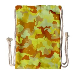 Camouflage Yellow Drawstring Bag (large)