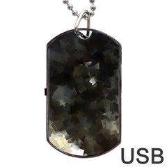 Space Like No 8 Dog Tag Usb Flash (two Sides)