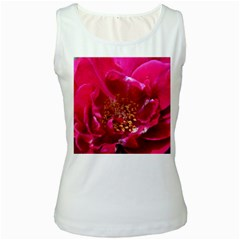 Red Rose Women s Tank Tops