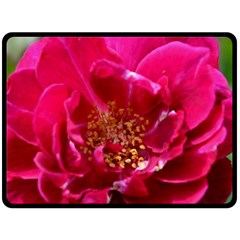 Red Rose Fleece Blanket (large)