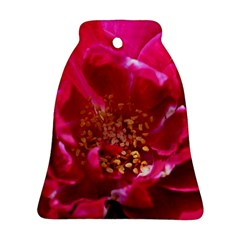 Red Rose Bell Ornament (2 Sides)