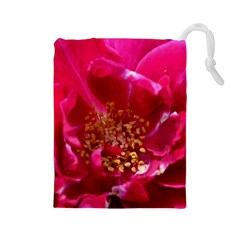 Red Rose Drawstring Pouches (large)