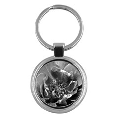 Black And White Rose Key Chains (round)