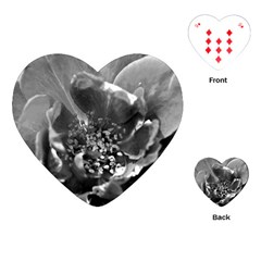 Black and White Rose Playing Cards (Heart)