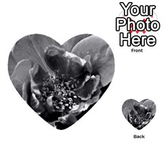 Black And White Rose Multi Purpose Cards (heart)