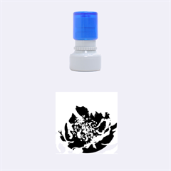 Black And White Rose Rubber Round Stamps (small)