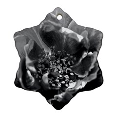Black and White Rose Ornament (Snowflake)