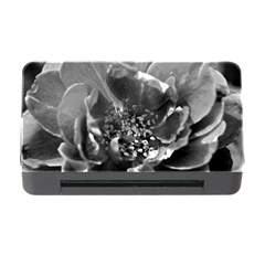 Black and White Rose Memory Card Reader with CF