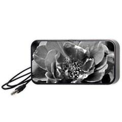 Black And White Rose Portable Speaker (black)