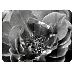 Black And White Rose Samsung Galaxy Tab 7  P1000 Flip Case