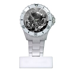 Black And White Rose Nurses Watches