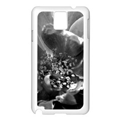 Black And White Rose Samsung Galaxy Note 3 N9005 Case (white)