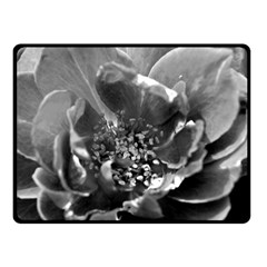 Black and White Rose Double Sided Fleece Blanket (Small)