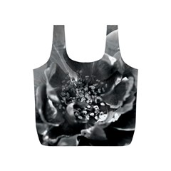 Black And White Rose Full Print Recycle Bags (s)