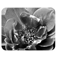 Black and White Rose Double Sided Flano Blanket (Medium)