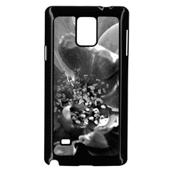 Black and White Rose Samsung Galaxy Note 4 Case (Black)
