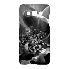 Black and White Rose Samsung Galaxy A5 Hardshell Case
