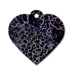 Grapes Dog Tag Heart (one Side)