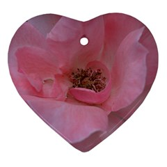 Pink Rose Ornament (heart)