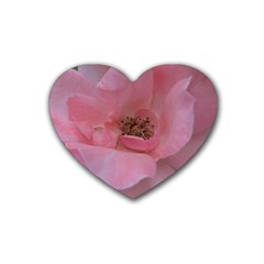 Pink Rose Rubber Coaster (heart)
