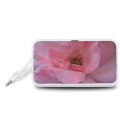 Pink Rose Portable Speaker (White)